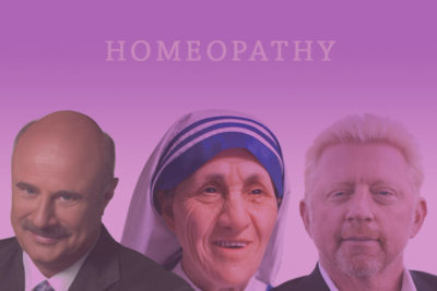 celebrities famous people homeopathy